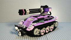 Friendly fire. (ChrisR18t) Tags: pink friends lego 2012 gatlinggun legotank