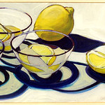 "<b>Lemon Still Life</b><br/> Judith Whipple (1942-) ""Lemon Still Life"" Acrylic, ca. 1983 LFAC #1997:08:61<a href=""http://farm8.static.flickr.com/7067/6852458913_fc3de717d0_o.jpg"" title=""High res"">∝</a>"