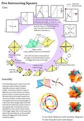 Five Intersecting Squares, Diagram (Aneta_a) Tags: square origami diagram planar modularorigami alekseeva annaalekseeva