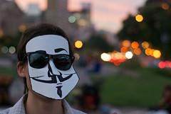 Anonymous with glasses (blmurch) Tags: argentina buenosaires mask protest censorship mascara vforvendetta sopa anonymous obelisco censura capitalfederal antiacta partidopirataar