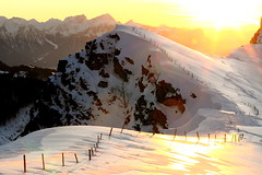 Winter mountaineering (Elysium 2010) Tags: winter sunset mountain forealps