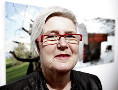 Stranger #15 (JennTurner) Tags: red portrait people woman art canon project painting glasses sigma stranger 20mm f18 500d 100strangers