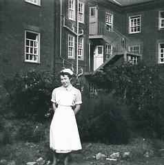 Noreen Shaw by Nurses Home 1954 (Voices Through Corridors) Tags: 1950s nurseshome