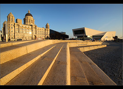 New front...... (Chrisconphoto) Tags: liverpool threegraces pierhead merseyside liverbuilding goodlight