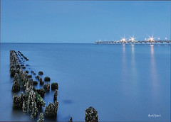 Blue Sea (ByTheChesapeakeBay) Tags: chesapeakebay sigma1020mm norfolkvirginia oldpier blueribbonwinner nikond90 oceanviewfishingpier benrotravelangeltripod leefilters062stopndgradwithhardedge