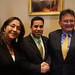 Navajo Nation Division of Natural Resource Department Manager Madeline Roanhorse, New Mexico Congressman Ben Ray Lujan, and Navajo Nation Division of Natural Resources Director Fred White at the House Subcommittee on Energy and Mineral Resources hearing on HR 785, a bill to amend the Surface Mining Control and Reclamation Act of 1977 (SMCRA). Mr. White testified in support of HR 785. Feb. 17, 2012. Photo by Jared King / NNWO