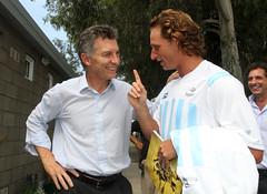 Mauricio Macri con David Nalbandián previo al choque de Copa Davis con Croacia