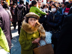 lady in Asakusa (Takeshi Garcia) Tags: asakusa tokyo japan x10 street photography streettogs lady   coat light portrait candid sp japanese streetphotography fujifilm urban pointandshoot people ladies style streets takeshigarcia thedefiningtouch definingtouchgroup deftouch