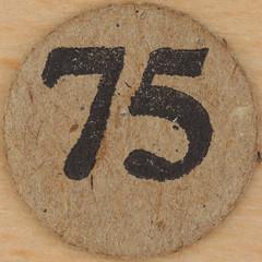 Cardboard Bingo number 75 (Leo Reynolds) Tags: canon eos iso100 number squaredcircle lotto 60mm f80 bingo 75 loto housie housey 02sec 40d hpexif numberset numberbingo houseyhousey xsquarex housiehousie xleol30x sqset075 bingoset27