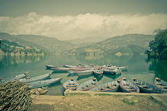 Begnas Lake I (Uwe Printz) Tags: travel nepal two men bike one nikon pokhara 18200 vrii d7000 nikon18200vrii nikond7000 travelpirate 20120217 twomenandonebike