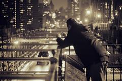 Keeping a piece of the city. (Linh H. Nguyen) Tags: street bridge newyork brooklyn night lights takingaphoto nikkorh8518 nex7