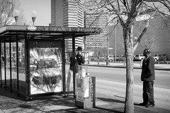 COTA Self Portrait 02 (Stephen A. Wolfe) Tags: street columbus bw usa selfportrait bus poster 50mm downtown streetphotography oh juststreetphotography afnikkor50mmf14 blackandwhitestreetphotography niksoftware apertureusers nikond700 50mmf14shooters centralohiophotographers niksoftwarephotoshare petapixel photographersontwitter appleaperture3 thisweekinphoto silverefexpro2 swolfe2000 cotaproject