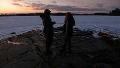 Seurasaari (ccr_358) Tags: wood trees sunset sea sky people white snow cold ice suomi finland island evening march helsinki travels tramonto afternoon helsingfors openairmuseum 2012 finlandia seurasaari republicoffinland ccr358