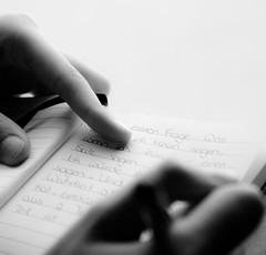 A German backpacker writing in her journal (Liam Kearney) Tags: writing journal
