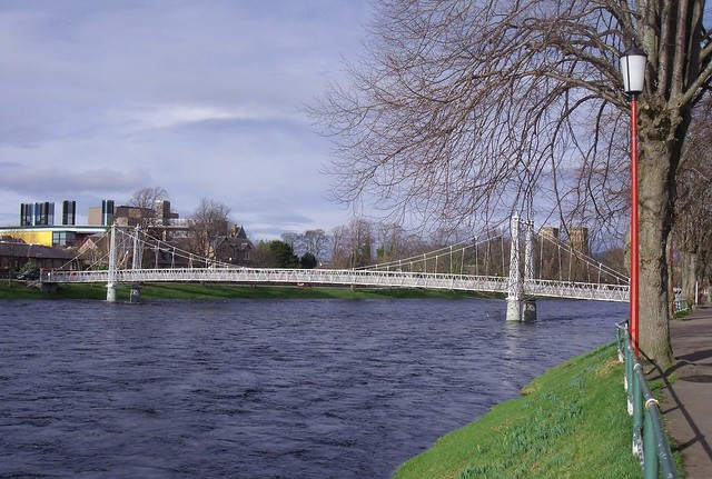 Foorbridge over River Ness in Inverness Scotland