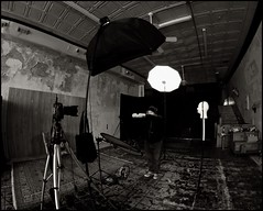 A Life Story Set-up (Studio d'Xavier) Tags: bw behindthescenes lightingsetup strobistsetup healkill