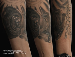 Canon 5D Mark II Tattoo (seerich) Tags: camera black tattoo ink canon grey skin mark ii 5d 13twentythree cameratattoo canontattoo