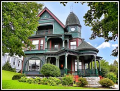 500 N McBride St ~ Syracuse NY ~ Architecture ~ Queen Anne/Victorian (Onasill) Tags: county new york house ny tower window st architecture anne state balcony victorian n style historic queen porch mission syracuse mansion 500 turret gable mcbride onondaga onasill