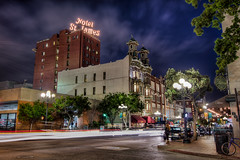 5th Avenue in the Gaslamp (Justin in SD) Tags: night canon dark hotel highresolution sandiego 5thavenue gaslamp tavern bluehour 5th hdr ramadainn downtownsandiego hotelstjames canon60d ramadainnandsuites