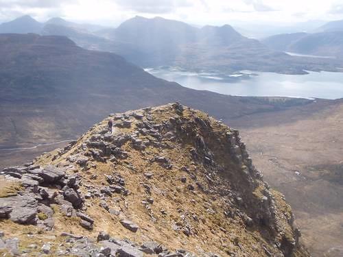 Towards Loch Shieldaig from The Horns of Alligin, Beinn Alligin (photo by Stuart Buchanan)