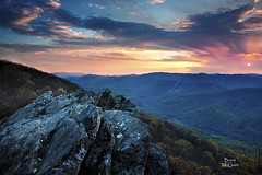 Blue Ridge Spring (Brent McGuirt Photography) Tags: blue sunset cliff mountain colors virginia spring ridge va parkway ravens ridges wildfire roost