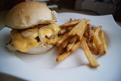 Homemade cheese-burger with fries (anax44) Tags: burger fries