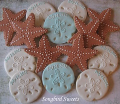 Starfish & Sand Dollars (Songbird Sweets) Tags: bridalshower starfish sugarcookies sanddollars songbirdsweets