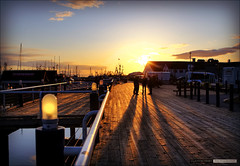 Steveston (Clayton Perry Photoworks) Tags: sunset silhouette silhouettes richmond boardwalk hdr steveston