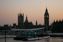 Dusk at Six (Mikepaws) Tags: city uk greatbritain england london clock westminster skyline architecture spring cityscape time capital parliament bigben palace clocktower 2012