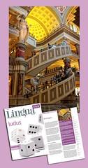 Published! Lingua Viva Magazine, March 2012 - Circular Excalators at Caesar's Palace in Las Vegas, NV ([Rikki] Julius Reque) Tags: print media lasvegas nevada escalator caesarspalace publication publish circularescalator