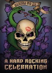 A Hard Rocking Celebration (piktografika) Tags: roses rock illustration ink photoshop skull purple digitalart heavymetal rockmusic snakes birthdaycard birthdaycelebration invitationcard glammetal purpleroses hardrocking photoshopcolouring piktografika