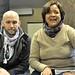 (Photo by Bob Studzinski) Tony Nelson and Luz Rivera-Martinez share with Columbus Activists ideas on Global Justice Movement