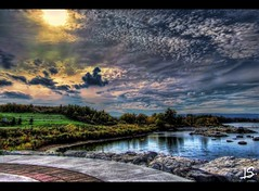 Stormy Weather (Jeff S. PhotoArt) Tags: sky ontario canada reflection weather bay photo collingwood wasaga image georgianbay picture stormy milleniumpark georgian shipyard wasagabeach bluemountain ontariocanada collingwoodontario nottawasagabay collingwoodharbour collingwoodpier viewnx2