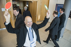 Jean-Claude Schneuwly shows the way to the Zurich Process side event