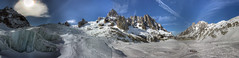 Sun Ice Mountains and snow - Valle Blanche HDR Panorama (Rich pick) Tags: mer france mountains alps montagne alpes savoie blanche chamonix mont blanc geant glace valle serac tacul valee