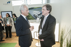 Peter Ramsauer with Martin Rickmann at the Toll Collect Stand