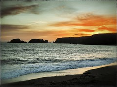 Sunset at Garrus Strand - March 18th - 078 - 180312 (Wayne.Brown) Tags: ocean sunset sea beach strand rocks waterford 2012 garrus waynetbrown