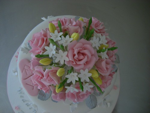 25th wedding anniversary flowers sugar flowers up 25th wedding anniversary cake a 1077