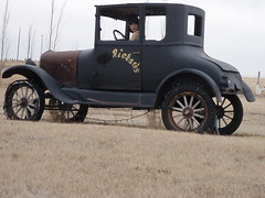 Safe Easter Travels Folks .... (Mr. Happy Face - Peace :)) Tags: mrhappyface travel easter greetings safetravels ford vintage old richards namaka alberta canada modelt spokes tires lady car rust rusty girl driving metal wooden black prairies angle wave looking portriat insurable curves composition tailgate fender wheels mags shoulder check rear spring pasture pioneer driver travelling touring explore exploring postcard funpic friends flickr greet safe happy funny fun humor hilarious laugh mannequin woman twoseater 攝影發燒友 lovely~lovelyphoto art2017 albertabound chuckles
