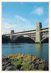 Britannia Bridge, Gwynedd, Wales UK (col underhill) Tags: uk wales view britain postcard picture gb british welsh gwynedd anglesey menaistrait britanniabridge jarthurdixon colinunderhill