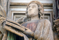 Detail of Jeremiah Holding Book: Claus Sluter, Well of Moses, 1395-1405