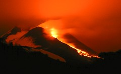 In the glow of the night (etnaboris) Tags: italy volcano sicily etna eruption 2012 lavaflow strombolianactivity newsoutheastcrater