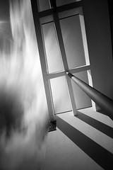 Through the roof......... (Digital Diary........) Tags: longexposure blackandwhite bw architecture movement angles le weldingglass