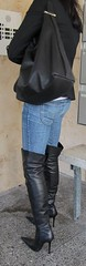 visiting friends (Rosina's Heels) Tags: leather high boots thigh heels stiletto overknee