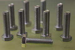 Bolts (tudedude) Tags: macro thread screw model steel machine engineering tools workshop dorset bolt precision nut stacked panhead fitting wingnut gbr fastener threaded nutbolt stackedimage imagestacking caphead machinescrew posidrive tudedude