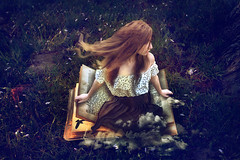 009 -1234doneweb (Crystal Connell) Tags: fairytale clouds book crow storybook littlewomen whimsical fineartphotography fairytail whimsicalforest crystalconnell