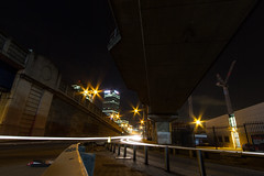 Roads of London (14 of 18) (johnlinford) Tags: city longexposure england urban london night landscape lights poplar unitedkingdom 7d gb docklands canonefs1022 canoneos7d