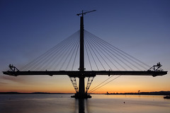 Queensferry Crossing North Tower at Sunset 20-04-2016 (The McCorristons) Tags: sunset forth queensferry riverforth dockyard rosyth northtower rosythdockyard queensferrycrossing