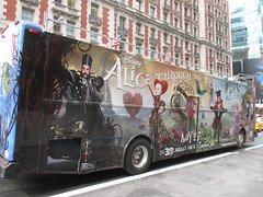 Alice Through the Looking Glass Bus Billboard 9148 (Brechtbug) Tags: street new york city nyc bus film glass cat movie tim looking cheshire near alice broadway lewis disney double billboard johnny billboards carroll through mad depp avenue wonderland 7th 42nd hatter burtons decker in 2016 05192016