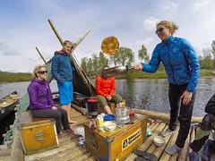 Rafting in Sweden (www.AlastairHumphreys.com) Tags: travel river slow sweden adventure klarlven rafting raft huck pancake finn huckleberryfinn